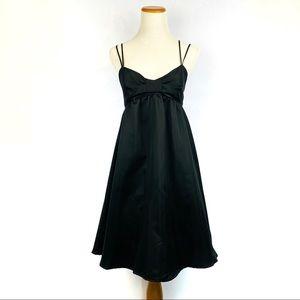 VOLCOM Black Spaghetti Strap Baby Doll Mini Dress
